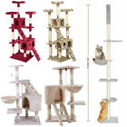 Cat Tree Scratching Post Kitty Tower Activity Center 5-Tier Floor to Ceiling UR