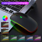 Wireless Optical Mouse M40 2.4G Colorful Luminous Rechargeable Mute Ultra-thin f