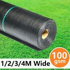 Weed Control Fabric Ground Cover Driveway Membrane Heavy Duty Decking Sheet Mat