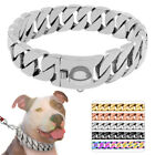 "Luxury Heavy Stainless Steel Large Dog Show Chain Choke Collar 17""/19""/21""/25"""