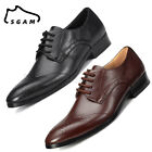 Men Leather Formal Shoes Business Tuxedo Work Dress Pointed Toe comfy L