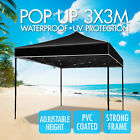 3x3m Gazebo Outdoor Courtyard Marquee Party Bbq Tent Canopy Camping Garden Tent