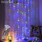 300 LED Curtain Fairy String Lights Backdrop Wedding Xmas Party Decor In/Outdoor