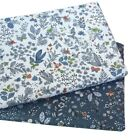 Syunss Navy Floral Printed Twill Cotton Fabric DIY Tissue Patchwork Telas