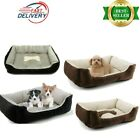 Dog Pet Bed Warm Basket Bed Deluxe Soft Washable Cushion with Fleece Lining