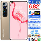 M11PRO 6.82'' 8 128GB Android 10.1 Mobile Smart Phone 5G-LTE Face ID Core Decal