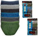 6 pc Men Color Briefs Cotton Underwear Old School Vintage Style
