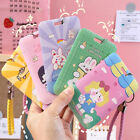 ID Card Badge Holder Keychain Card Case Girls Cute School Name Pass Cover