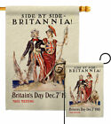Side By Britannia Garden Flag Service Armed Forces Decorative Yard House Banner