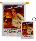 Pass The Ammunition Garden Flag Service Armed Forces Decorative House Banner