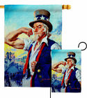 Bluid Stronger America Garden Flag Service Armed Forces Decorative House Banner