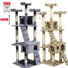 180CM Cat Tree PawHut Scratcher Activity Center Cando Scratching Post Toy Bed Ur