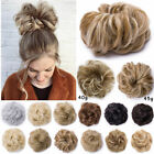 Lady 1Pcs Real Thick Wrap Curly Messy Bun Hair Piece Scrunchie Hair Extensions H