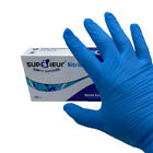 100 Count Superieur Blue Nitrile Exam Gloves Powder Free - Size Small Medium XL