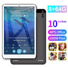"10"" Ultra-thin 4G 8 64G Tablet PC Android 9.1 WIFI Dual SIM Triple GPS Camera"