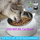 Pet Cat Bowl Food Water Stainless Steel FeedingTilted Non Slip with Raised Stand