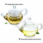 Mini Elegant Heat Resistant Glass Small Flower Coffee Pot Teapot with Filter