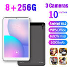 "10.1 Inch Tablet PC Android 10.0 Pad 256GB 10"" Core WIFI Dual SIM Camera Phablet"