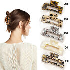 1/2PCS Women Rectangle Large Hair Claw Clips French Design Barrette Accessories