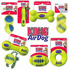KONG Air Squeaker Dog Toy - Ball Bone Dumbbell Football Fetch Stick / with Rope