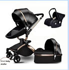 Baby Stroller Bassinet Carriage Combo 360 Rotation 3 in 1 Luxury for Newborn