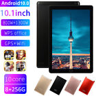 """10.1"""" Android 10.0 Tablet PC Octa Core Dual SIM Camera GPS Phablet 8 256GB"""