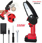 One-Hand Saw Woodworking Electric Rechargeable Chainsaw Wood Cutter 24V 2000mAh