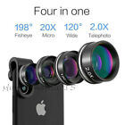 4in1 Cell Phones Camera Lens Fisheye Wide Macro Telescope Clip For iPhone 12 Pro