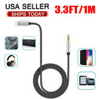 For iPhone 7 8 Plus X XR 11 12 Pro Max iPad to 3.5mm AUX Audio Car Adapter Cord