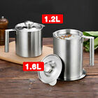 Can Grease Strainer Pot Container Kitchen Cooking Tool Oil Filter Storage SALE