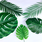 2pcartificial Palm Monstera Leaves Animal Birthday Wedding Party Home Decoration