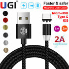 Magnetic Type C Micro USB IOS Fast Charging Charger Cable For Samsung...