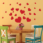 Hearts Wall Stickers Vinyl Art Decals