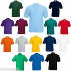 12 FRUIT OF THE LOOM POLO T SHIRTS 15 COLOURS ALL SIZES