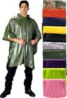"Waterproof Heavy Vinyl Hooded Rain Poncho (50"" x 80"")"