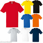 12 FRUIT OF THE LOOM HEAVY 100% COTTON T SHIRT S - XXL