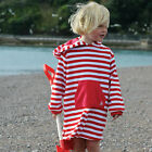 Boy Girl Childrens Mitty James Kids Beach Hooded Towelling Top Towel Robe Dress