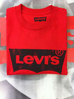 LEVI'S SHORT SLEEVE CREW NECK BATWING T-SHIRT RED
