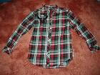 Helix Red/Black Plaid Skull Shirt~Young Men M,L~$42~NWT