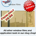 MIRROR GOLD 80% WINDOW FILM - ALT TO BLINDS OR CURTAINS