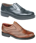 Mens New Black & Brown Leather Brogue shoes uk  6 - 14