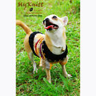 Handmade Dog Clothes Crochet Sweater Pet Clothing Knit Cute Custom Made DK826