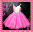 Hot Pinks Communion Festival Wedding Party Flower Girls Dresses SIZE 2 4 6 8 10Y