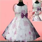 Purple Communion Christmas Festival Wedding Party Flower Girls Dresses SIZE 2-10