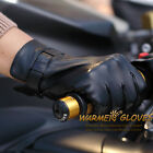 Mens GENUINE LEATHER motorcycle driving POLICE gloves