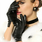 Women's GENUINE LEATHER stylish gloves lined 5 color