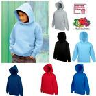 FRUIT OF THE LOOM Kinder Kapuzen Sweatshirt Sweater Hoodie Hoody 116 - 164