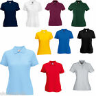 3 FRUIT OF THE LOOM LADYFIT POLO SHIRTS 7 COLS XS - XXL