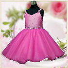 Hot Pinks Communion Wedding Party Flowers Girls Dresses SIZE 2T-3-4-5-6-8-10-12T