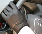 Mens GENUINE NAPPA leather cashmere lined winter gloves